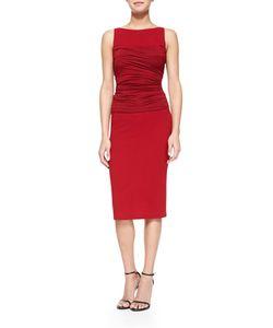 Donna Karan | Sleeveless Ruched-Bodice Shift Dress
