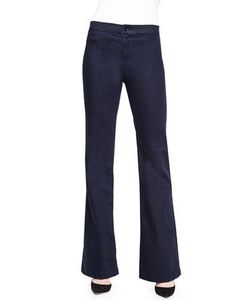 J Brand Jeans | Tailored High-Rise Flared Denim Trouser