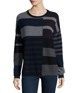 Loma | Cashmere Long-Sleeve Mixed-Stripe Sweater