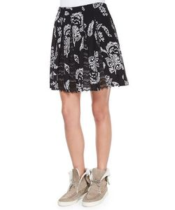 Thakoon Addition | Lace-Inset Pleated Skirt