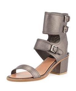 Laurence Dacade | Metallic Ankle Cuff Sandal