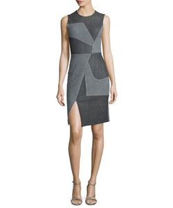 Prabal Gurung | Sleeveless Asymmetric-Seam Dress Gray