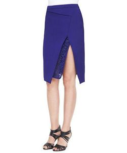 J. Mendel   Envelope Skirt With Lace Embroidery