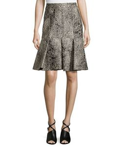 J. Mendel | Envelope Skirt With Lace Embroidery Imperial Blue