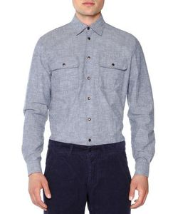 Tomas Maier | Double-Pocket Felted Oxford Shirt