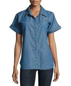 Frame Denim | Snap Button-Down Denim Shirt