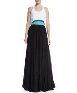 Prabal Gurung | Flyaway Embellished Bustier Gown