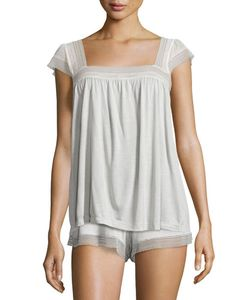 Eberjey | Manuela Lace-Trim Camisole Oyster Gray