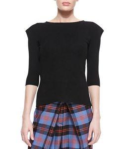 Denim x Alexander Wang | Felted Peak-Shoulder Sweater