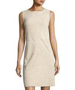 Vince | Whipstitch Nubuck Leather Sleeveless Dress