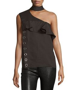 Costume National | Mock-Neck One-Shoulder Top