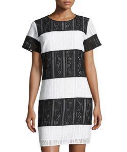 Michael Michael Kors | Striped Lace Tee Dress