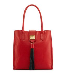 Badgley Mischka | Bailey Leather Tassel Tote Bag
