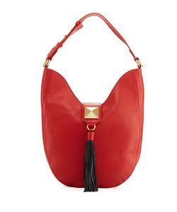 Badgley Mischka | Bailey Pebbled Leather Hobo Bag