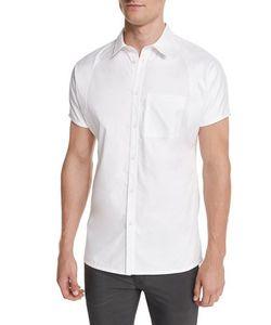 Helmut Lang   Cap-Sleeve Button-Front Shirt