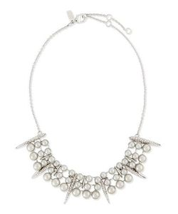 Alexis Bittar | Pearly Paveacute Crystal Bar Collar Necklace