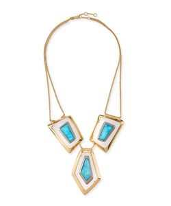 Alexis Bittar | Large Floating Turquoise Howlite Kite Necklace