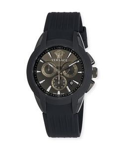 Versace | 42.5mm S Character Chronograph Watch W Silicon Strap