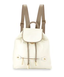 Halston | Leather Drawstring Backpack T