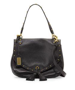 Badgley Mischka | Estelle Leather Tassel Shoulder Bag
