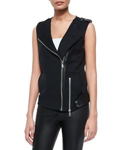Andrew Marc | Ottoman Suiting Vest W Leather Trim
