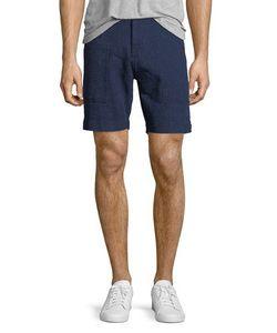 Michael Bastian | Waffle-Knit Straight-Leg Shorts