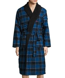 Original Penguin | Fleece-Lined Flannel Robe