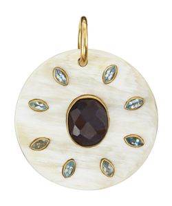 Ashley Pittman | Alasiri Iolite Blue Topaz Round Pendant Womens