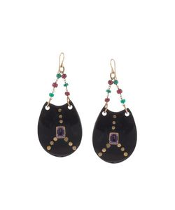 Ashley Pittman | Dark Horn Chandelier Earrings Womens Gold