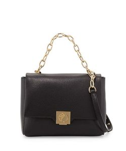 Versace Collection | Leather Fold-Over Crossbody Bag