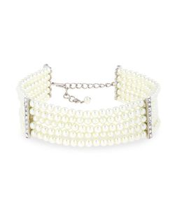 Kenneth Jay Lane | Five-Row Pearly Beaded Collar Necklace