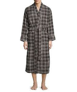 Majestic International | Plaid Velour Terry Robe