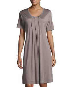 HANRO | Marta Pleated Short-Sleeve Nightgown