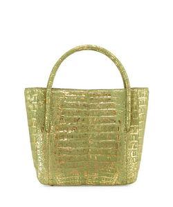 Nancy Gonzalez   Crocodile Square Shopper Tote Bag Forest