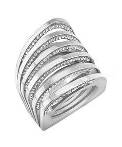 Vita Fede | Futturo Crystal Cuff Bracelet Womens Size M White