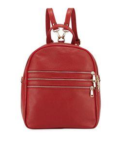Neiman Marcus | Triple-Zip Leather Backpack