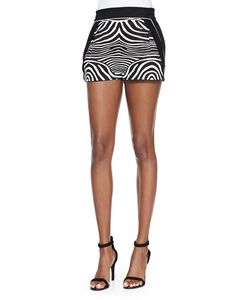 Ohne Titel | Zebra-Print/Solid Resort Shorts Womens Size 6 Black/White