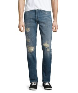 J Brand Jeans | Tyler Distressed Denim Jeans Destructed Moore Mens Size 33 Destrted M