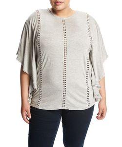 Cirana Plus   Lace-Inset Jersey Poncho Plus Size