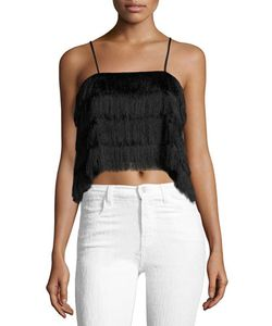 C/Meo | Slow Burn Fringed Top