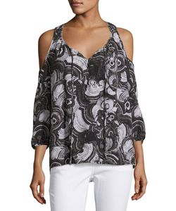 Michael Michael Kors | Cold-Shoulder Tie-Front Blouse