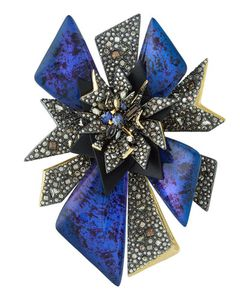 Alexis Bittar | Two-Tone Crystal-Studded Perennial Punk Pin