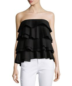 C/Meo | Never Mind Ruffled Bustier Top