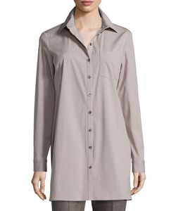 Michael Kors | Long-Sleeve Button-Front Long Shirt