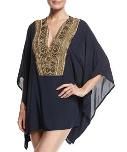 Ondademar | Abyssal Embroidered Poncho