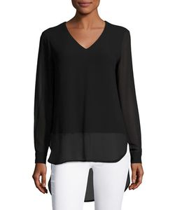 Joan Vass | Cuffed-Sleeves Long Blouse