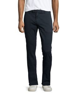 J Brand Jeans | Brooks Slim-Fit Chino Trousers Federal Blue Mens Size 33 Federal Bl