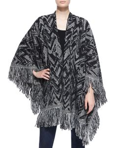 Nude | Chevron Wool Shawl W/ Fringe Gypsum Womens