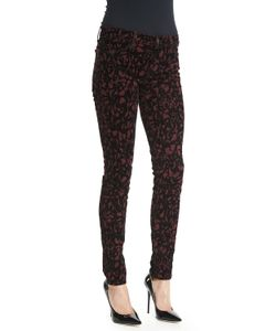 J Brand Jeans | 620 Mid-Rise Super-Skinny Jeans Mulberry Brocade Womens Size 25