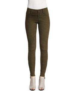 J Brand Jeans | Suede Super-Skinny Pants Camo Green Womens Size 25